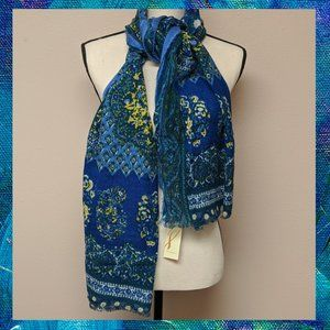 COLLECTION XIIX 'ISLAND BREEZE' Blue Wrap Scarf